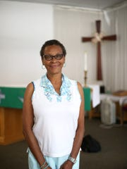 Rhonda Donaldson stands in the Grace Mission chapel,