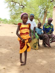 Seven-year-old Ainata came to Galion from Burkina Faso