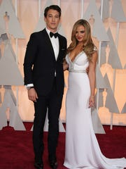 Teller and Sperry arriving at the Academy Awards in