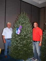 A balsam fir grown by Jim and David Chapman, of Silent Night Evergreens in Endeavor, WI, is the 2017 National Grand Champion.