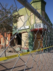 Demolition started in Duranguito the morning of Sept.
