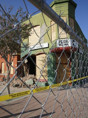 Demolition started in Duranguito the morning of Sept. 12 after a court order was issued the day before to halt it.