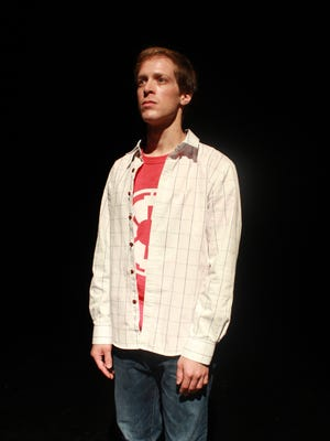 """Actor Mickey Rowe in """"The Curious Incident of the Dog in the Night-Time,"""" running at Indiana Repertory Theatre Sept. 19-Oct. 14."""
