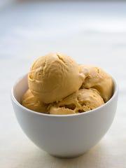 Drunken Pumpkin ice cream is a seasonal flavor served