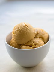 Drunken Pumpkin ice cream is a seasonal flavor served at Penny Lick Ice Cream Co. in Hastings-on-Hudson.