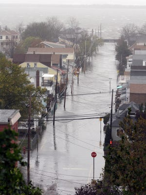 Highlands flooding caused by Superstorm Sandy.