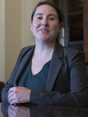 This file photo shows Leandra English, a Consumer Financial Protection Bureau official who filed a 2017 lawsuit that aimed to block President Trump's pick from serving as the bureau's acting director.
