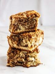 Banana Coffeecake with Brown Sugar Pecan Streusel is