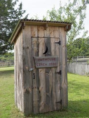An old outhouse