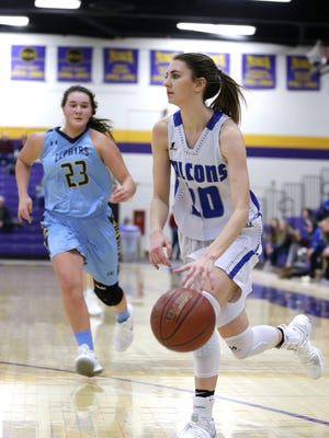 Maizie Berry and the Amherst girls basketball team rank third in Division 3 in this week's Associated Press boys and girls basketball polls.