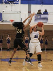 The Carlsbad Cavegirls face the Hobbs Lady Eagles in