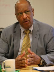Assemblyman Gordon Johnson during an editorial board