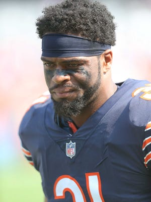 Former Chicago Bears defensive back Marcus Cooper (31) is looking for a new team.