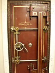 This safe door was moved from the previous location of Holland Jewelry Co. to its current at 501 W. Beauregard Ave.