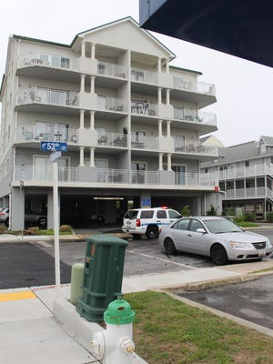 Ocean City police are investigating an incident at the intersection 53rd Street and Coastal Highway. Investigators were on the third floor balcony.
