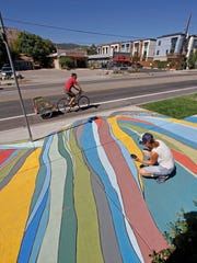 One of public art projects in Boulder, Colorado, under
