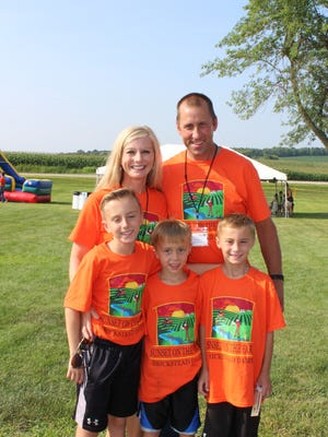 Dan and Melanie Brick hope their children, Sawyer, Elijah and Ian will lead their farm into the sixth generation.