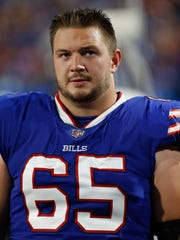 Ike Boettger continues to see time at right guard early in the preseason.