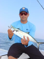 Dave Werner with a Spanish mackerel he caught on the Debbie M.