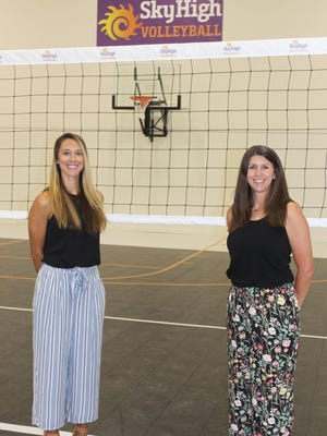 Dayna Masters (left) and Lindsay Laurent, directors and co-owners of Sky High Sports/Sky High Volleyball.