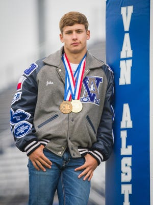 Van Alstyne High School graduate Jake Carroll competed in five sports during his years as a Panther.