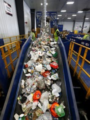 The Rumpke Recycling facility in St. Bernard.