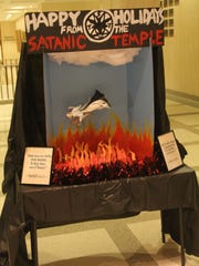 The Satanic Temple's holiday display in the Florida Capitol.