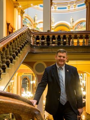 State Senator Kevin Kinney of District 39 at the Capitol building in Des Moines.