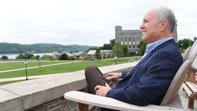 Dennis Murray, retiring president of Marist College, pictured on campus.