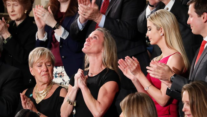Carryn Owens, widow of Ryan Owens, in Congress on Feb. 28, 2017.