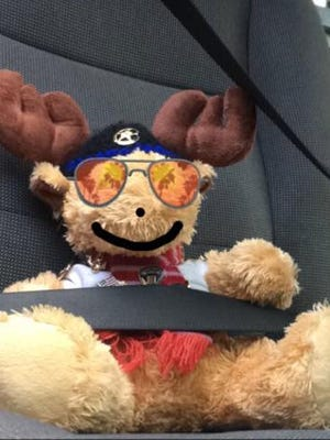 Mr. Moosey, a gift to a Pennsylvania police office from a 5-year-old girl, now travels the country to help keep officers safe. He's in Cincinnati for the week.
