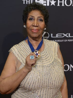 Legendary singer Aretha Franklin was honored for her contributions to music at the BET Honors Saturday.