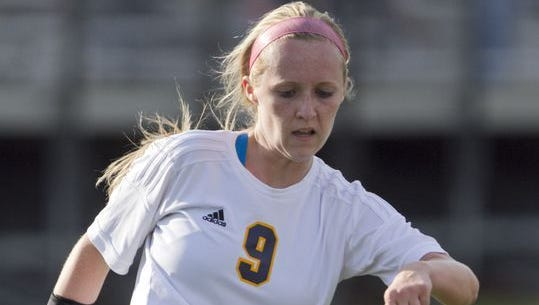 Kennady Kuhlman and the Hartland girls soccer team are moving on to face Brighton in the district finals after beating Howell, 5-2, on Thursday.