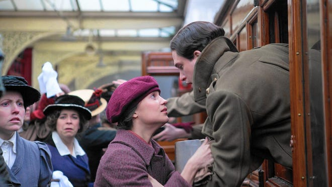 """Alicia Vikander and Roland Leighton star in """"Testament of Youth,"""" a story of young love, the futility of war and how to make sense of the darkest times."""