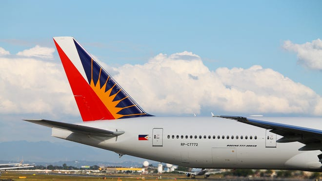 A Philippines Airlines jet.