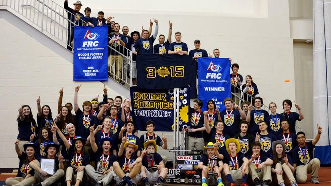 The 2015 FIRST Robotics Team from Spencerport High School.