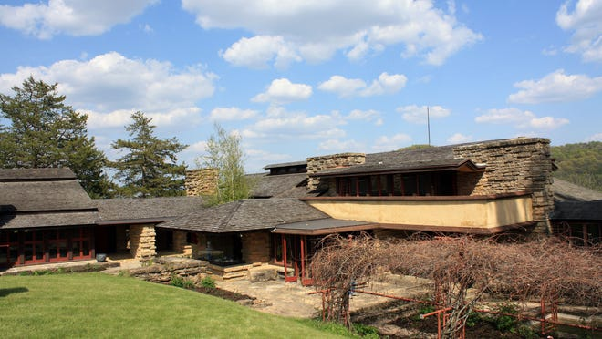 Frank Lloyd Wright built Taliesin into a hill in Spring Green.