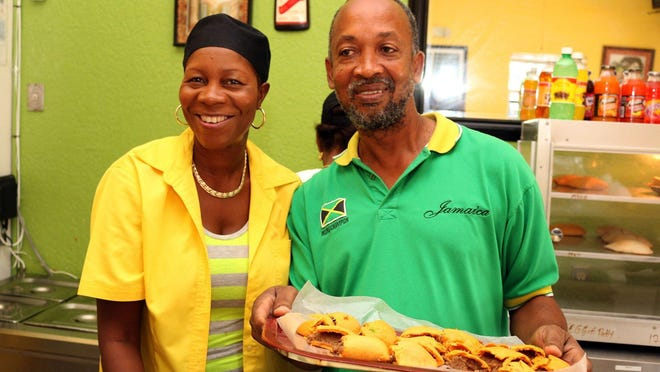 """Ivet """"Sweet"""" Henry and Rupert Clarke own Sweet's Sensational Cuisine, which serves Jamaican classics in Delray Beach."""