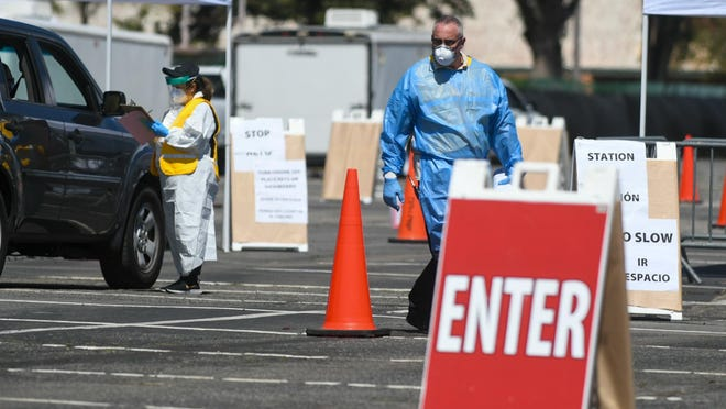 San Bernardino County health officials on Friday reported 611 new cases of COVID-19 and 14 additional virus-related deaths.