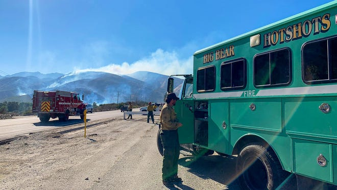 The Brook Fire which ignited Wednesday, July 29, 2020, in the Cajon Pass was reported to be 185 acres on July 30.
