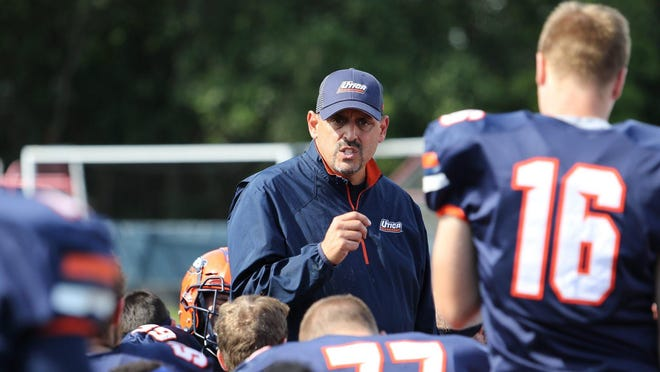 """Utica College football coach Blaise Faggiano: """"We teach our guys not to be bystanders. Speak up and advocate for those who can't for themselves."""""""