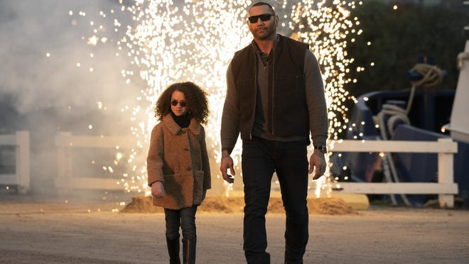 "Chloe Coleman and Dave Bautista team up in the action-comedy ""My Spy."""