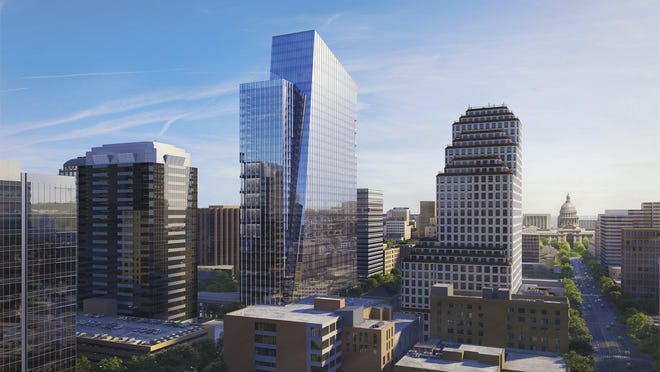 The planned 36-story Indeed Tower will be the tallest office building in downtown Austin once it opens in 2021. The Teacher Retirement System of Texas has leased about 100,000 square feet in the building at 200 W. Sixth St.