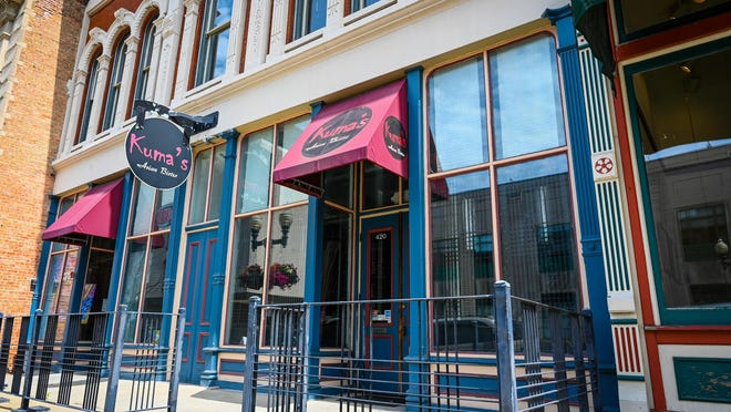 Kuma's Asian Bistro, 420 E. State St., Rockford, has closed. The restaurant's interior was empty on Monday, July 20, 2020, and several pieces of equipment from it were listed for sale on Facebook marketplace.