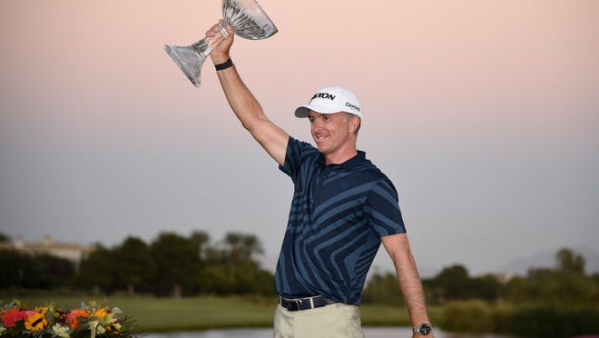 Martin Laird after winning the 2020 Shriners Hospitals for Children Open at TPC Summerlin.