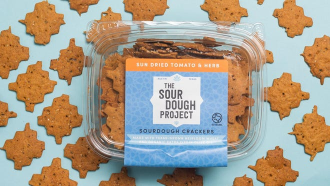 The Sourdough Project, which started in 2018, is now selling its crackers in Whole Foods, Wheatsville Food Co-op and Central Market.