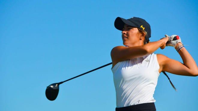 Madison Slayton, Wichita, leads by two strokes at the Kansas Women's Amateur.
