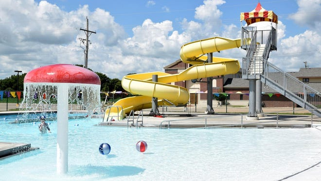 The Rossville Community Pool is scheduled to reopen Friday. Repairs that had delayed the reopening are complete, Shawnee County Parks and Recreation reported Tuesday.