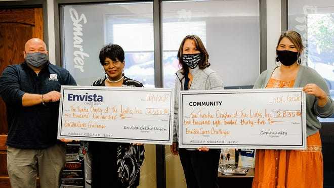 The Topeka (KS) Chapter of The Links received over $5,000 during the month of September as part of Envista Credit Union's EnvistaCares Challenge.
