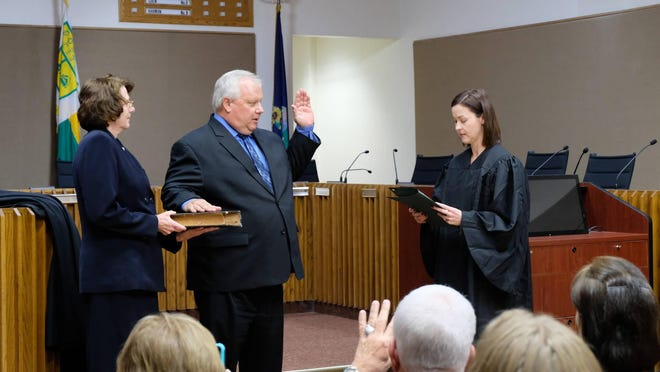 Topeka City Councilwoman Christina Valdivia-Alcala voiced concern late Tuesday about comments made on Facebook by Topeka Municipal Court Associate Judge John Knoll, shown in the center.